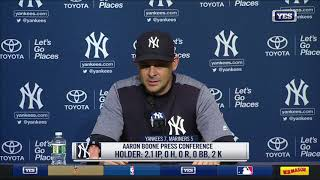 Aaron Boone on Yankees walk-off win
