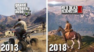 GTA 5 VS RED DEAD REDEMPTION 2! ГЛОБАЛЬНОЕ СРАВНЕНИЕ! GTA 5 VS RDR 2! | DYADYABOY 🔥