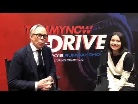 INNA interviewing Tommy Hilfiger at Milano Fashion Week