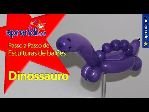 Como fazer um dinossauro de balões