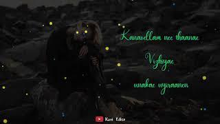 💔 Kanavellam neethane song status 💔 / Female version / 🖤 Kavi Editz 🖤