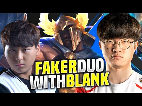 FAKER DUO WITH BLANK REUNITED AGAIN! - SKT T1 Faker Plays Pantheon vs Azir Mid! | 2020 KR SoloQ