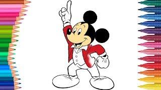 Myszka Miki kolorowanki 2 | Małych Rączek Kolorowanka dla Dzieci