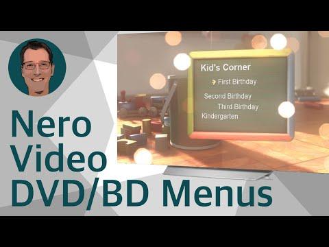 Amazing Nero Vision, Nero Video Disc Menu Templates in 3D / Atemberaubende Disc-Menüvorlagen