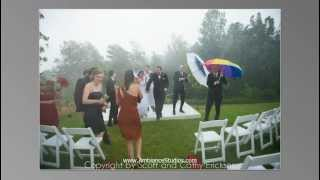 Wisconsin wedding pics in rain in Green Bay, WI
