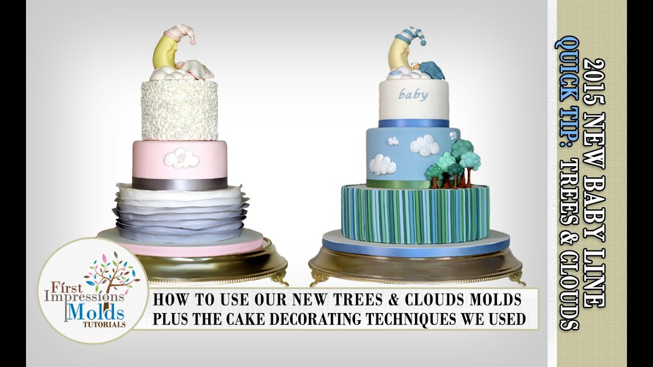 Cake Decorating Techniques Our New Tree Cloud Molds
