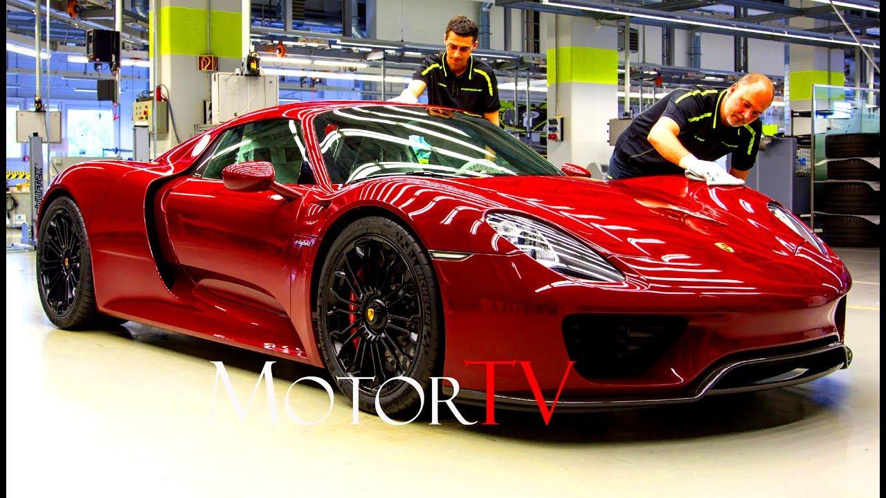 car factory porsche 918 spyder 2013 2015 production l full assembly line no music