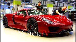 CAR FACTORY : PORSCHE 918 SPYDER (2013-2015) PRODUCTION l Full Assembly Line (NO MUSIC)