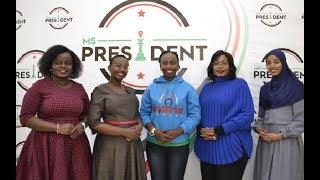 President Uhuru meets Ms President Contestants