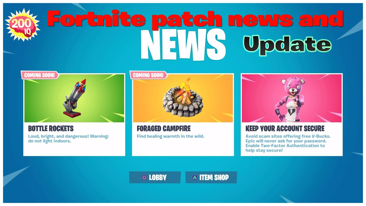 Fortnite Battle Royal. Patch notes and 7.40 news - YouTube