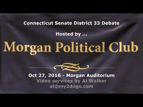 CT Senate District 33 Candidates Debate
