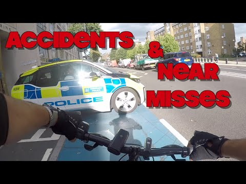 Accident & Near Misses - Cycling London - Compilation