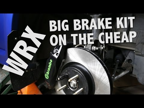 CADILLAC BREMBO BRAKE SWAP FOR YOUR SUBARU WRX ON THE CHEAP- HOW TO INSTALL PT-06