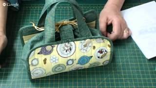 Patchwork Ao Vivo: toalha americana que vira bolsinha