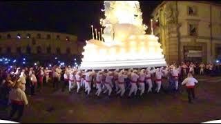 Santa Rosa 2018 - Le girate a piazza del Comune - 360