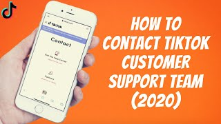 How To Contact TikTok Customer Support Team (2020) ✅