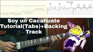 Soy un cacahuate-Bob Esponja Solo Tutorial(Tabs)+Backing Track by Julio CLM