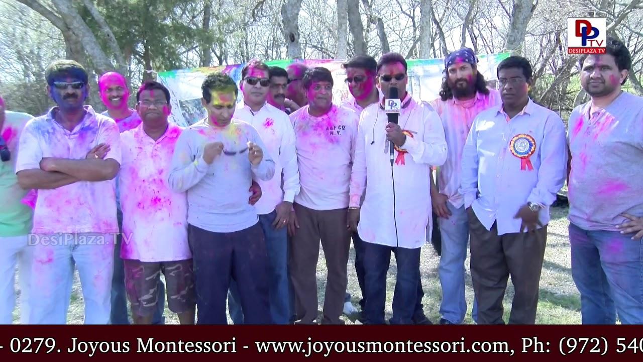 Mahendar Ganapuram, DATA President speaks to DesiplazaTV at DATA Holi Celebrations & Vanabhojanalu