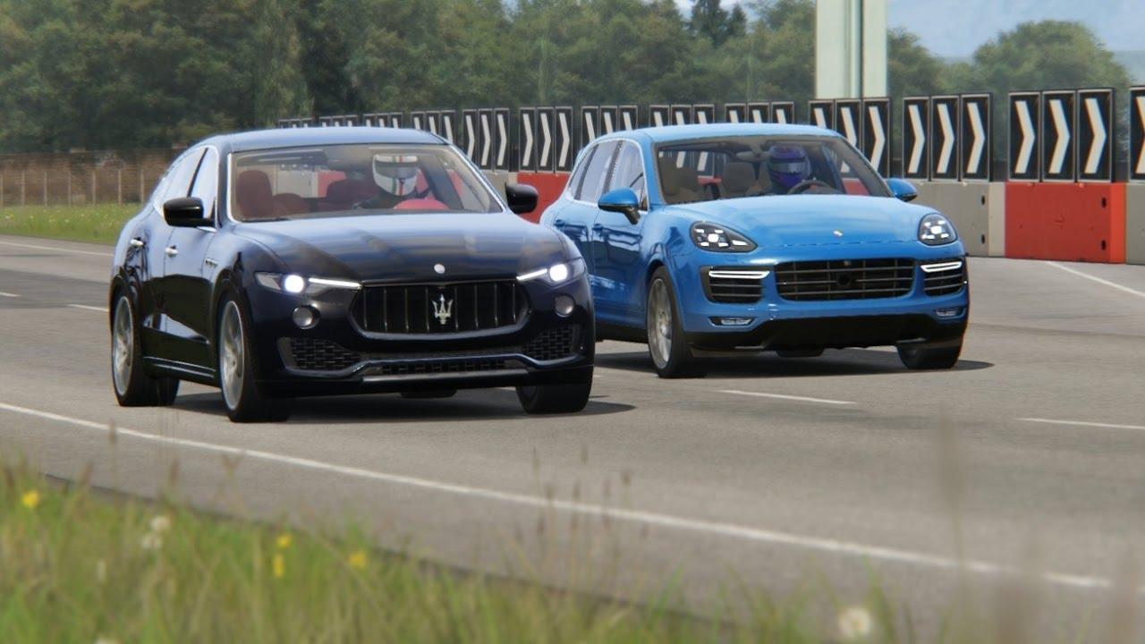 battle porsche cayenne turbo vs maserati levante s vs range rover