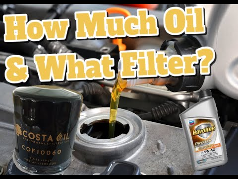 How Much Oil and What Filter Does My 2016 Honda Accord Take? 3.5 / 2.4