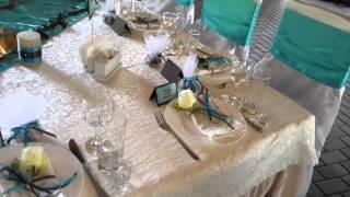 Wedding decor Tiffany&Chocolate Свадебное оформление лазурный тиффани и шоколад.