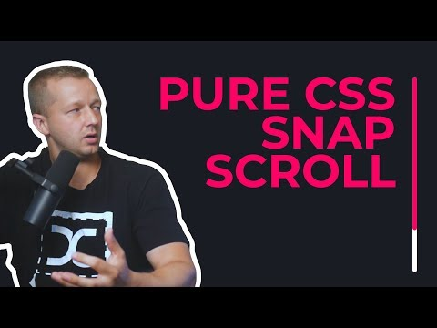 Pure CSS Snap Scrolling With These New CSS Properties!