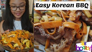 How to: Easy Healthy Korean BBQ Recipe / Cook Korean BBQ at home #cookwithme #kidvoiceover