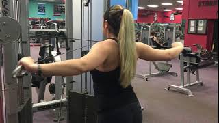 Cable rear delts
