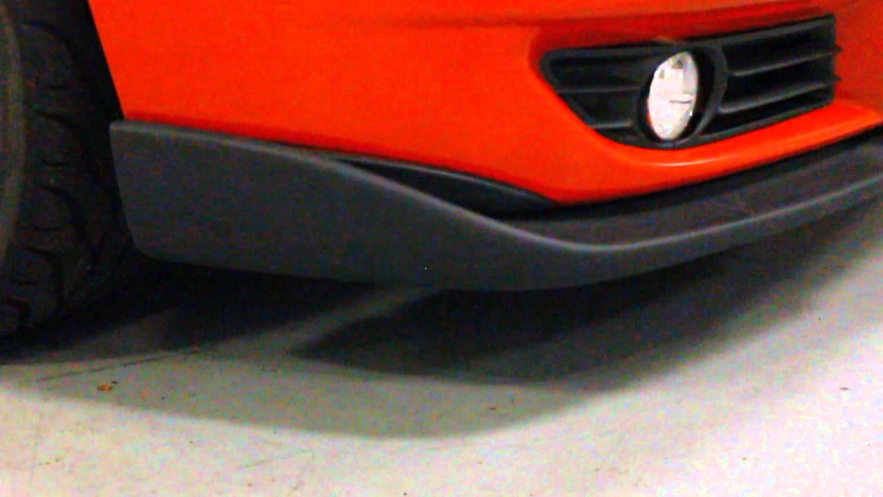 ipd Volvo Front Lip Spoiler #124395 2004-2007 S60R and V70R - YouTube