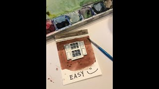 QUICKIES: Paint a window in watercolor
