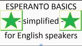 Esperanto Basics 1