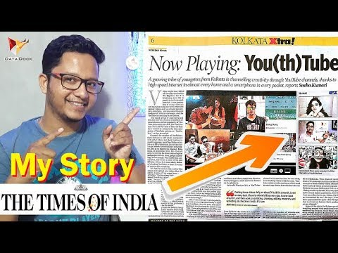 My YouTube Story on Today's Times Of India Paper | Data Dock
