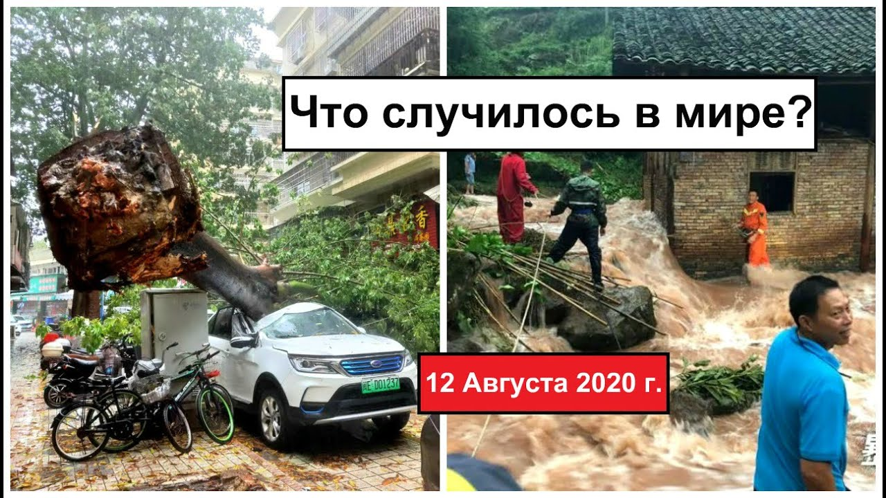 Все Катаклизмы за день 12 августа 2020 в мире | cataclysms of the day | Дрожь Земли