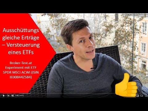 Steuerliche Behandlung thesaurierender Fonds: Beispiel mit ETF SPDR MSCI ACWI (ISIN IE00B44Z5B48)
