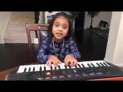 8 Year Old Girl Singing Gaali Vaaluga Song from Agnyaathavaasi   -Pawan Kalyan- Keerthi Suresh 