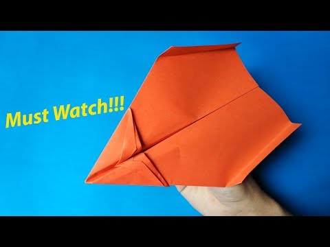 How to Make A BEST Paper Airplane Glider Step by Step - EASY Paper Airplanes That FLY FAR 10000 Feet