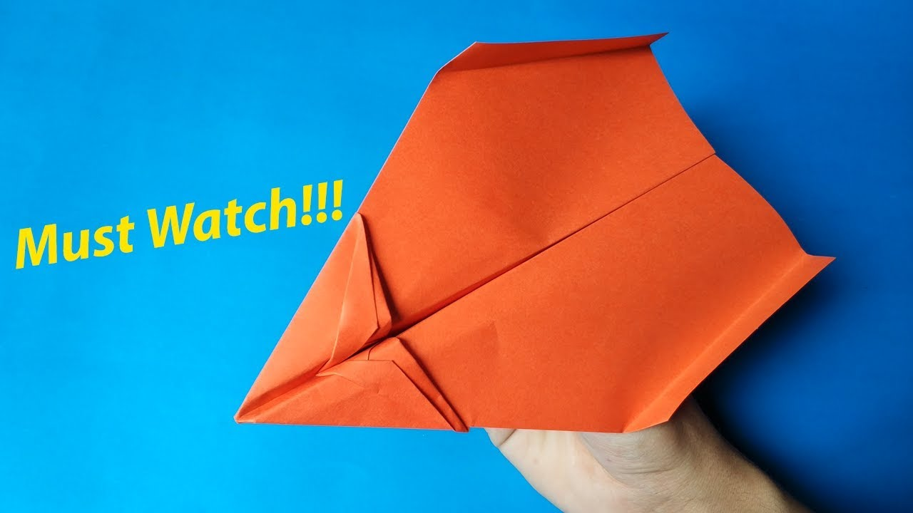 How To Make A Best Paper Airplane Glider Step By Step Easy Paper Airplanes That Fly Far 10000 Feet