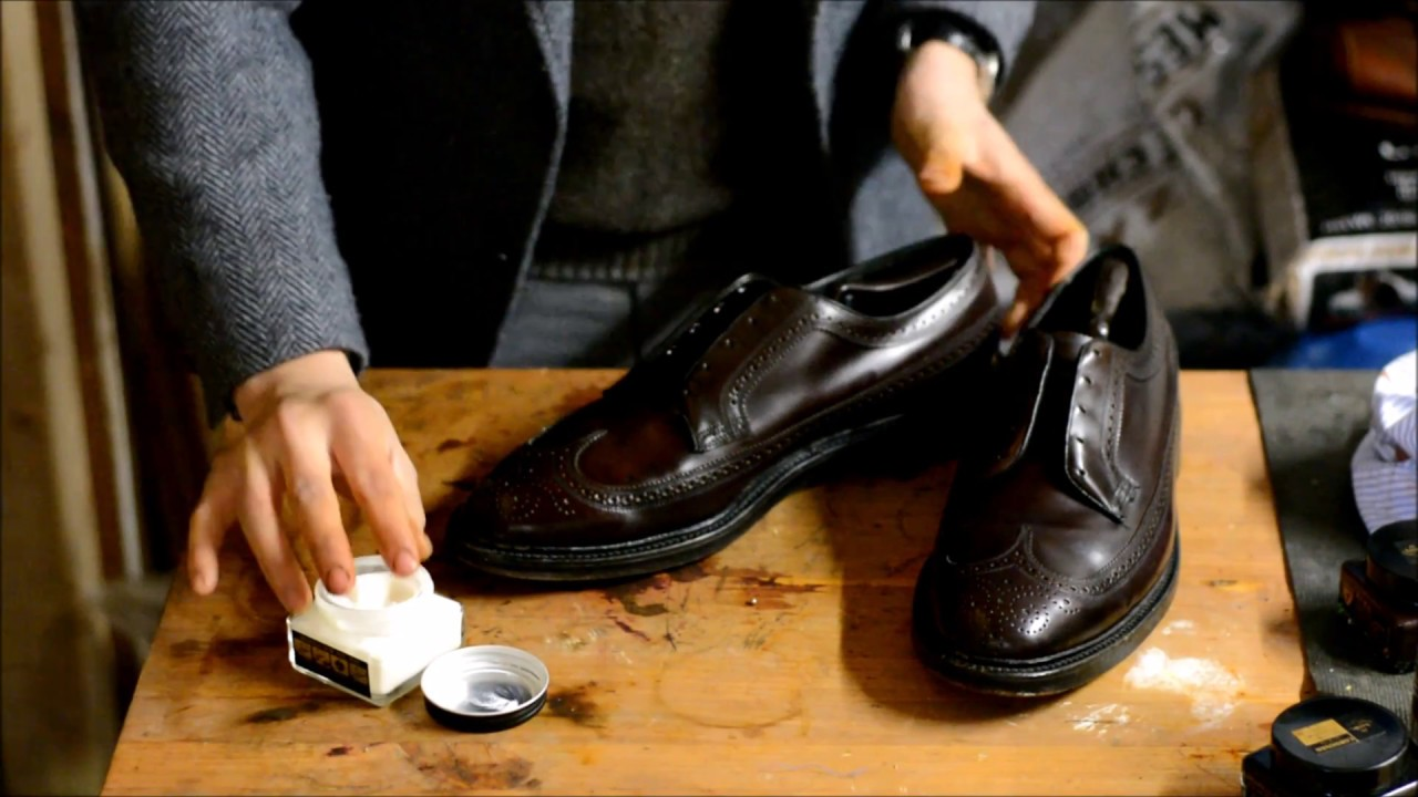0c60525a9b61e6 How to strip, clean up, condition polish Florsheim Imperial brown Horween  Shell Cordovan LWBs shoes