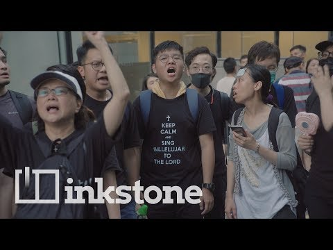 Hong Kong's Christian protesters come armed with hymns