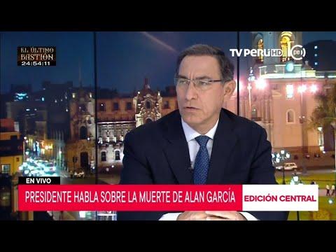 Presidente Martín Vizcarra se pronuncia sobre la muerte del exmandatario Alan García