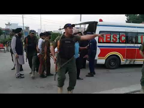 Attack on Interior Minister Ahsan Iqbal at Narowal Punjab.
