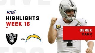 Derek Carr Highlights vs. Chargers