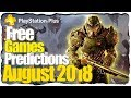 PS Plus August 2018 Predictions - PS4 Free Games Lineup