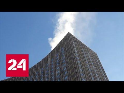 """В Москве горит гостиница """"Космос"""" - Россия 24"""