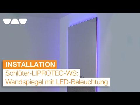 wandspiegel mit led beleuchtung einbauen schl ter liprotec ws youtube. Black Bedroom Furniture Sets. Home Design Ideas