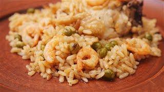 Паэлья с курицей и креветками - Рецепты от Со Вкусом