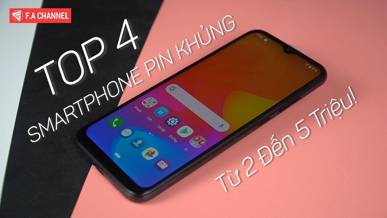TOP 4 Smartphone Pin Khủng Sạc Nhanh Đáng Mua Nhất Tầm Giá Từ 2 Đến 5 Triệu!!
