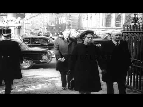 Funeral of Princess Mary in London in Britain HD Stock Footage