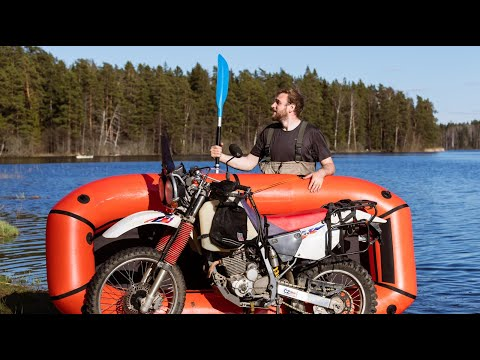 First Test Of Motorcycle Packraft