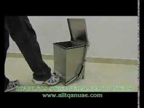 Stainless Steel Pedal Bin 20 Liters Youtube